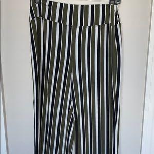 Express knit multi stripe pant